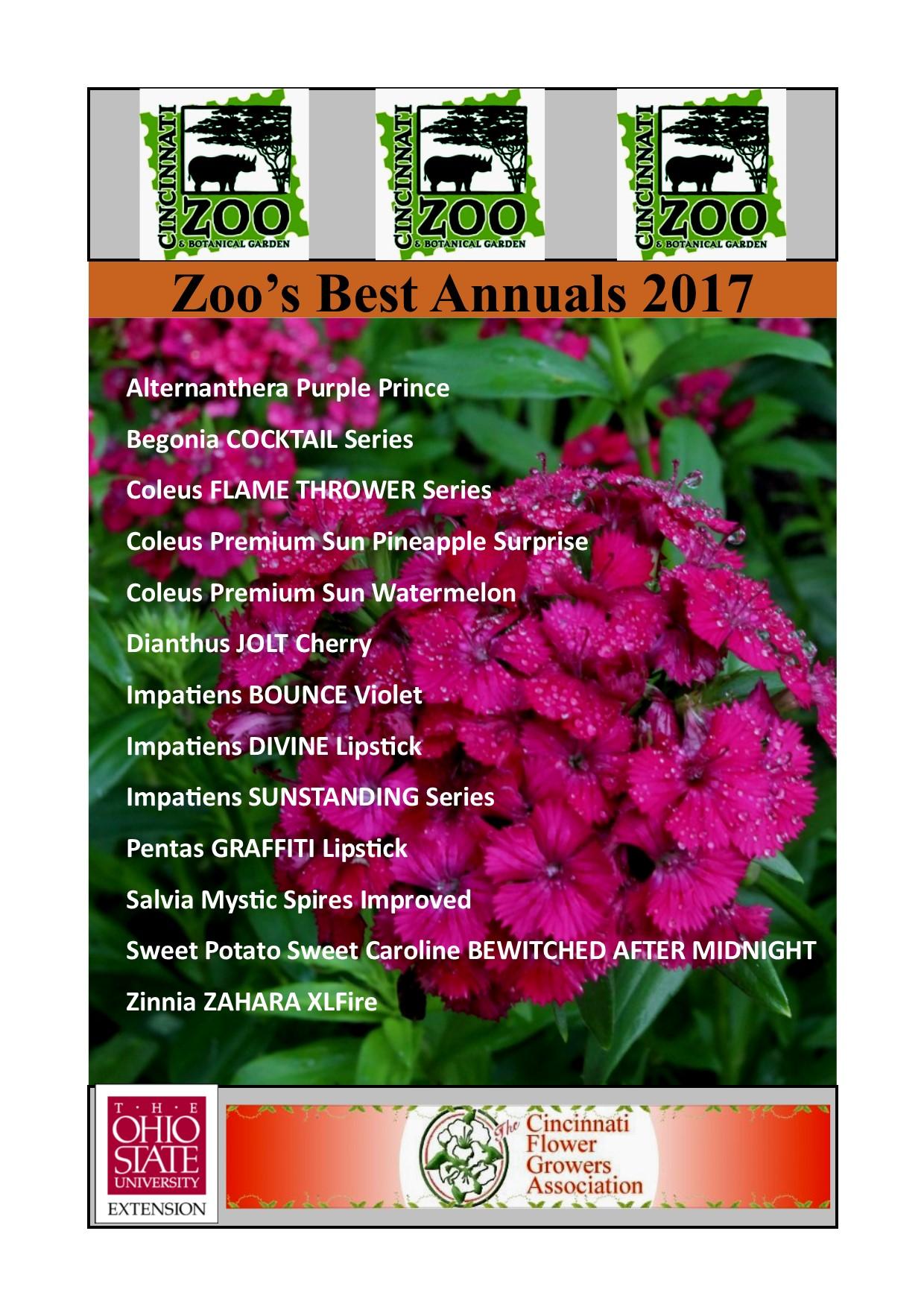 Zoo Garden Experts Reveal 2017 Picks For Best Annuals Cincinnati