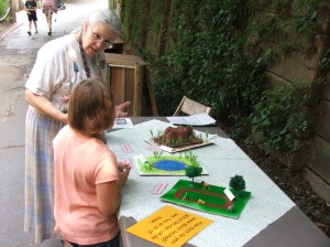 Rhino activity stations, like this one about rhino habitat, will be located throughout the Zoo on World Rhino Day.