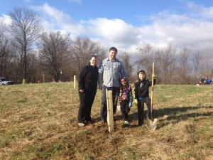Last year, my family and I helped plant trees at Mitchell Memorial Forest as part of the Taking Root campaign.