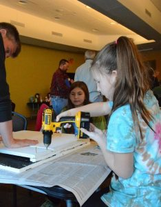 Building the houses (Photo: Shasta Bray)