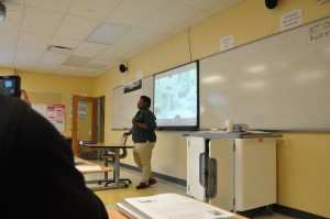 Here I'm teaching the class.