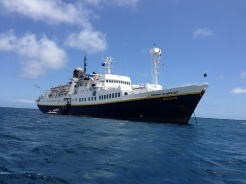 The National Geographic Endeavour served as our home base for the Lindblad Expedition. (Photo: Shasta Bray)