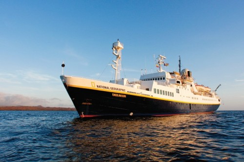 National Geographic Endeavour sailing in the Galapagos (Photo: Michael S. Nolan)