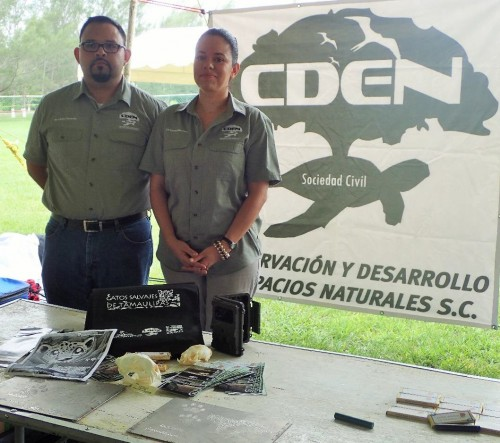CDEN leaders, Francisco Illescas and Rossana Nuñez (Photo: Wild Cats of Tamaulipas)