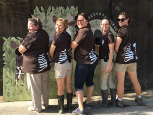 Celebrating World Okapi Day last year! (Photo: Cincinnati Zoo)