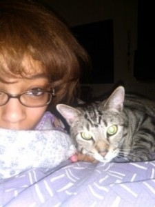 Me and Chaz, a cat I adopted from CREW
