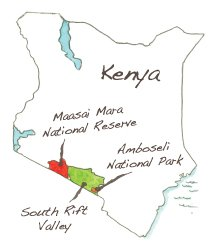 The South Rift Valley in Kenya is sandwiched between Maasai Mara and Amboseli National Parks.
