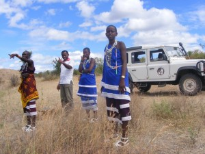 Local Maasai women visiting Ruaha National Park (Photo: Ruaha Carnivore Project)