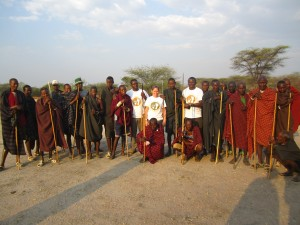 Amy Dickman and her team meets with the Barabaig tribe