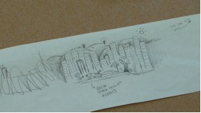 Preliminary sketch of mural design