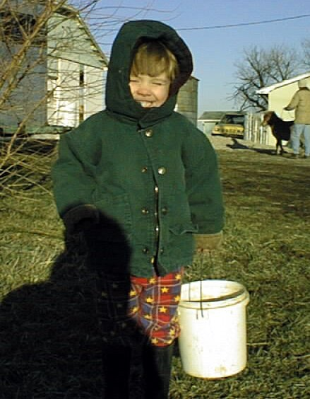 Here I am as a toddler on my Dad's farm.