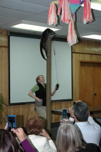 Sihil shows off her expert climbing skills at the Ocelot Soiree.