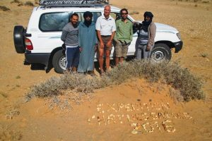 The Sand Cat Sahara Team during their field expedition in 2016 (Photo: Sand Cat Sahara Team)