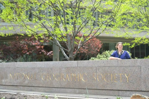 Here I am at National Geographic headquarters in D.C.