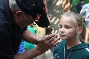 We painted tiger whiskers on hundreds of guests... (Photo: Crissi Lanier)