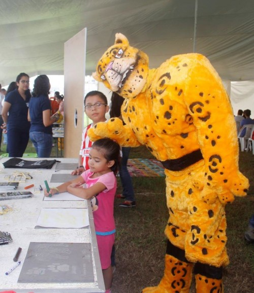 Alan, the jaguar mascot (Photo: Wild Cats of Tamaulipas)