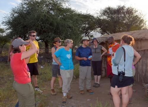 Peter describes life in a Maasai boma (Photo: Shasta Bray)