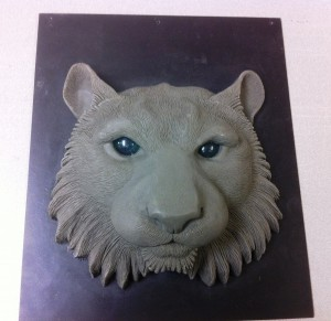 Detailed prototype of tiger face