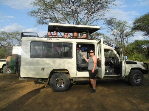 Getting ready to head out on our first game drive in the South Rift