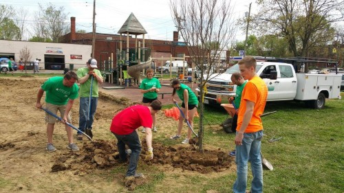 Planting trees in East Price Hill