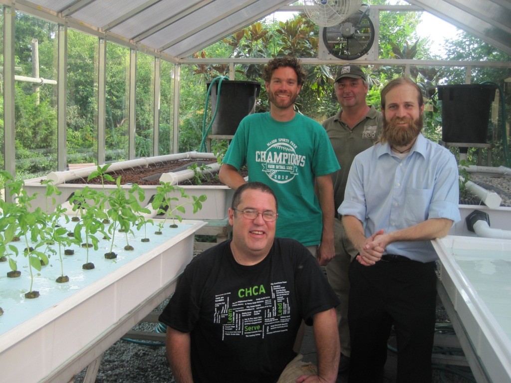 The fellas that helped get the aquaponics system started at the Zoo.