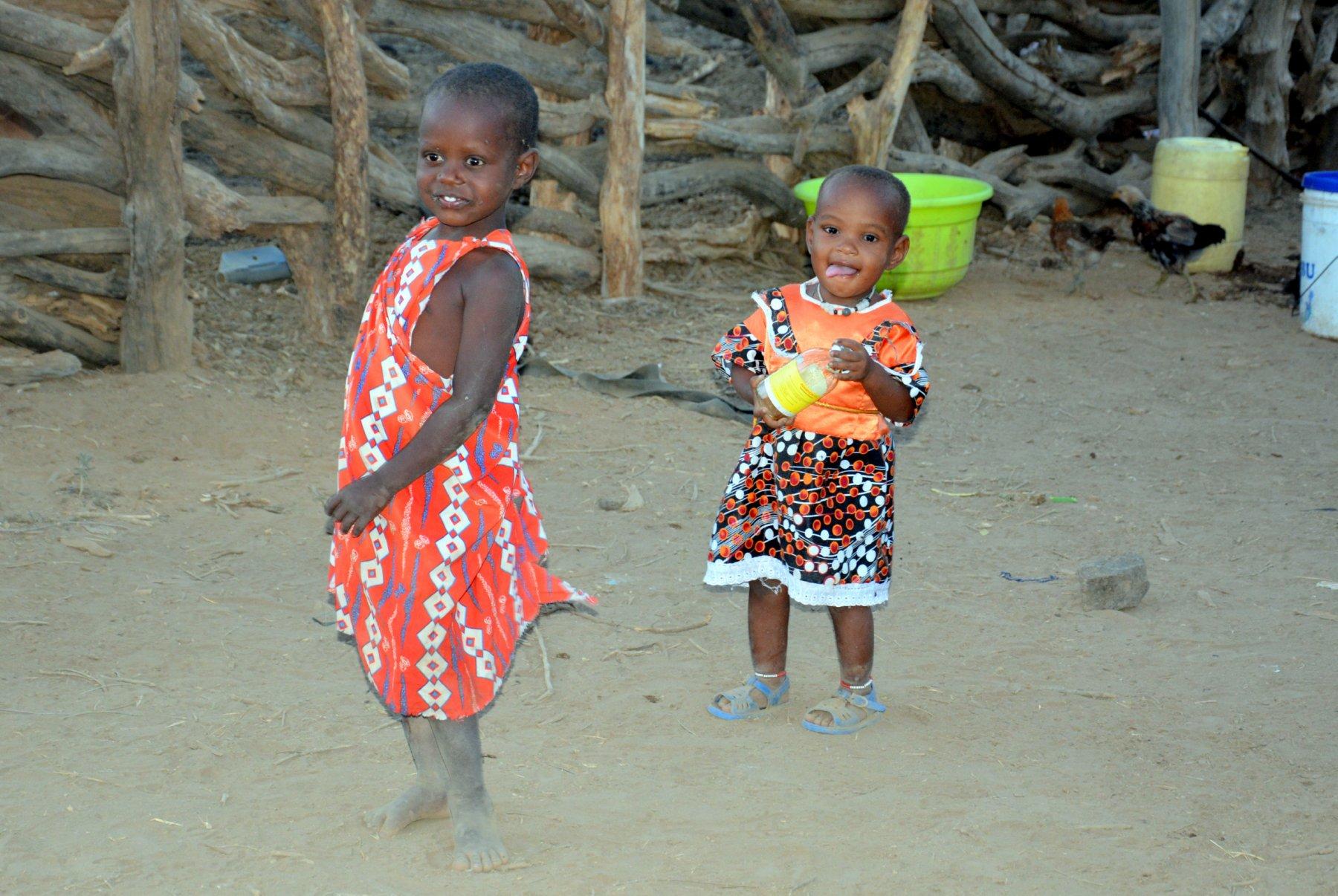 Two beautiful young Maasai girls (Photo: Shasta Bray)