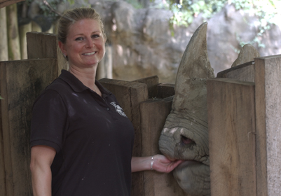 Marjorie and black rhino