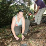 Planting a tree at the Cloud Forest School
