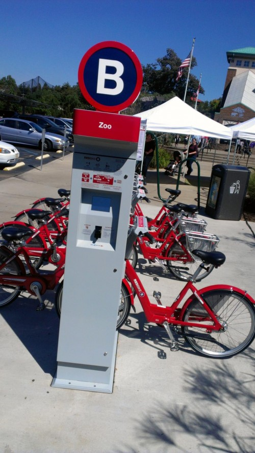 Red Bike Station at the Zoo