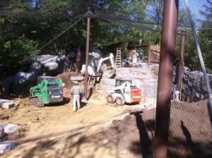 Snow leopard exhibit under construction
