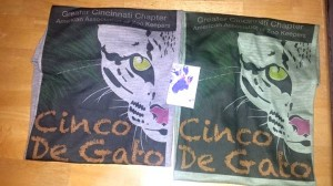 Cinco de Gato t-shirts and magnets painted by the Zoo's ocelots are among the merchandise that will be for sale at the event.